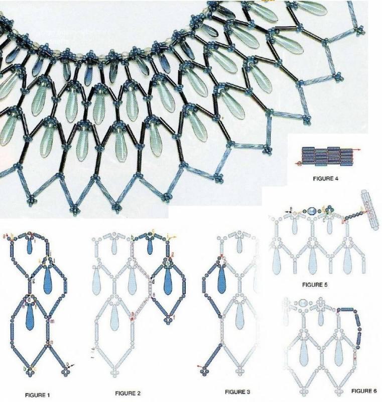 Широкое ожерелье из бисера