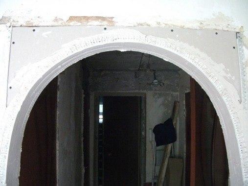 Межкомнатная арка своими руками из гипсокартона